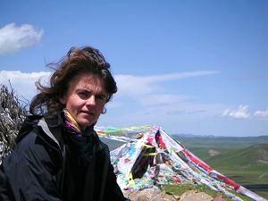Alice Grünfelder in Tibet (Foto: Rainer Kehrt)