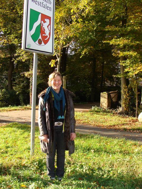Die Bürgermeisterin etc. wohnt direkt an der Landesgrenze NRW/Niedersachsen. (Foto: Birte Vogel)