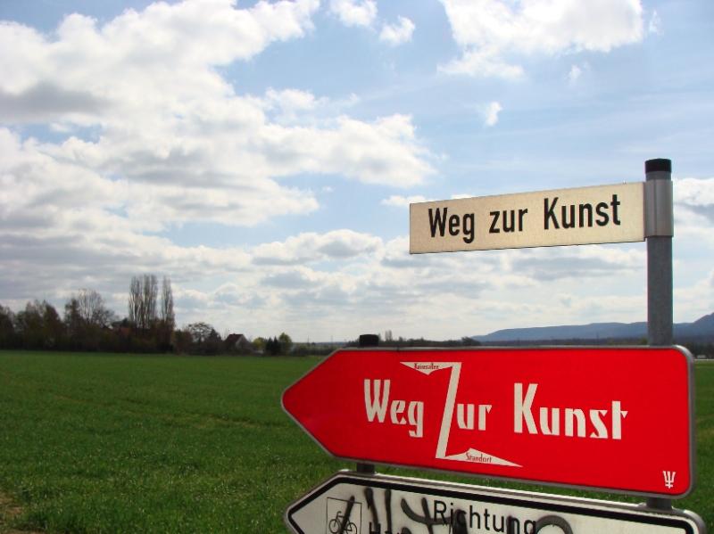 Der Weg zur Kunst – und zu Andreas Rimkus (Foto: Birte Vogel)